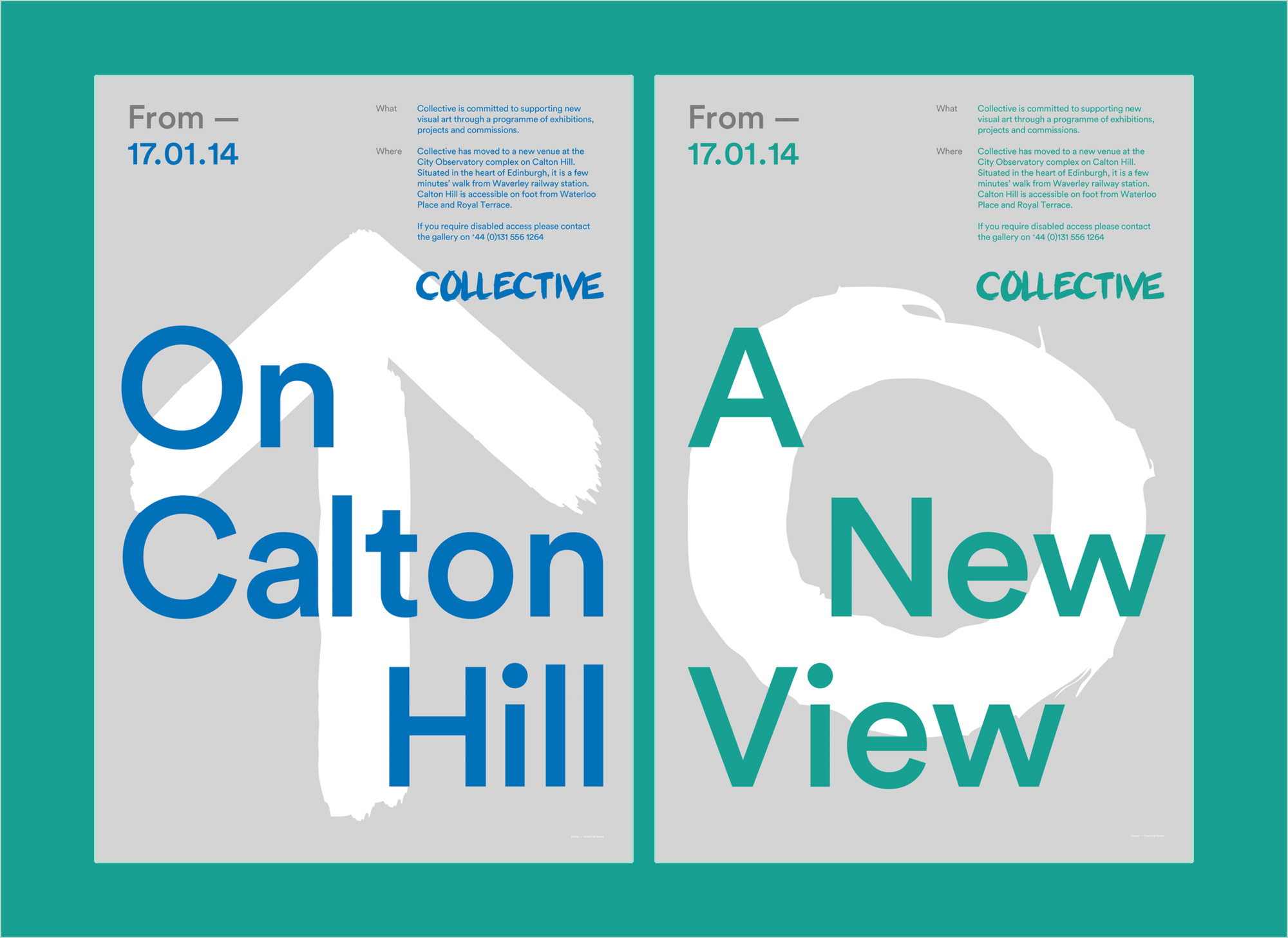 Two poster designs for Collective Gallery